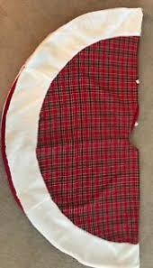 Image Is Loading Plaid Christmas Tree Skirt 55 Inches In Diameter