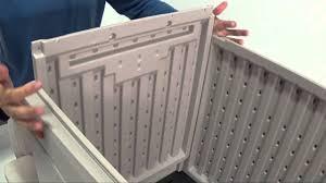 Suncast Db5000 50 Gallon Deck Box by Small Deckbox Box Assembly Youtube