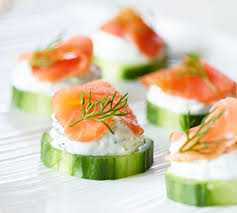 cucumber canapes smoked salmon cucumber canapés better nutrition magazine