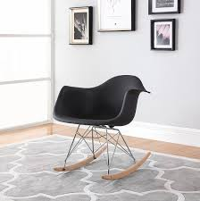 100 Eames Style Rocking Chair Modern Contemporary Armchair Natural Wood Legs Set Of