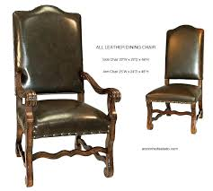 Arm Chairs Dining Room Rustic Leather Home Design Ideas