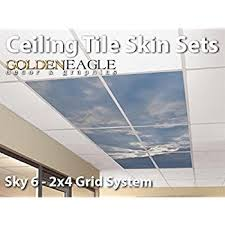 Black Ceiling Tiles 2x4 Amazon by Amazon Com Lot Of 6 2x4 Glue Up Ceiling Tile Skin Wide Dark