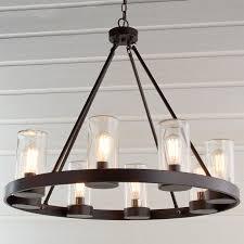 Industrial Indoor Outdoor Round Chandelier Shades of Light