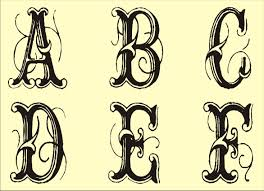Free Monogram Stencils Printable Tattoo Art Stencils Monogram