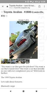100 Louisville Craigslist Cars And Trucks By Owner This Car Doesnt Care What You Want It Knows What You