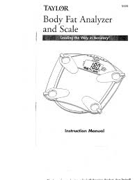 Taylor Bathroom Scales Accuracy by Body Measurement Scale 5599 Instruction Manual