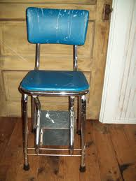 Cosco Retro Chair With Step Stool Black by Vintage Metal Step Stool Chair Cabinet Hardware Room Vintage