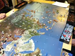We Played The Global 1942 Version Of Axis And Allies Combined Board Is About 6 Feet Long By 3 Wide Gary Harvey Barry Were