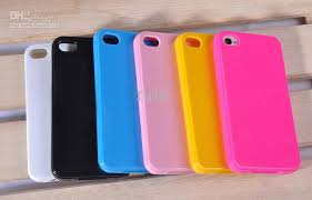 For Iphone 4 4s Case Sofr Tpu Rubber Material Solid Color Gloss