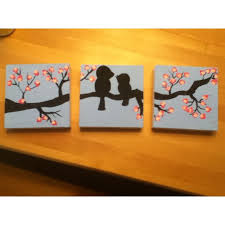 Three Paintings In A Row 25 Unique Canvas Painting Ideas On Pinterest Tree