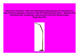 discount finether 10w led stehle standle mit gelenk