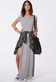 side split maxi dress shirt tied around the waist to have
