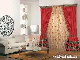 contemporary red curtain style 2015 for living room modern