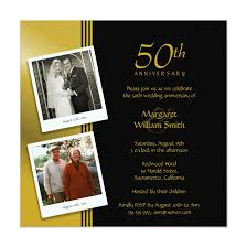 Golden Anniversary Invitations Now And Then Photos
