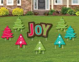 Rustic Joy Shaped Lawn Decorations