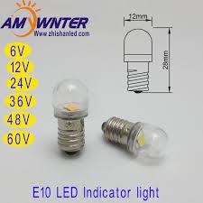 60v new arrival t4w led indicator light ba9s e10 led bulbs 12v