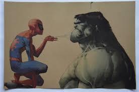 Vintage Superhero Wall Decor by Vintage Comics American Superheroes Marvel Cute Spiderman Hulk