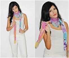 5 unconventional ways fashion girls wear their scarves my