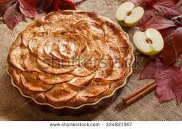 Gourmet Traditional Holiday Apple Pie Sweet Baked Dessert Food With Cinnamon And Apples On Vintage Background