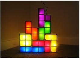 tetris diy constructible retro game style stackable led desk l