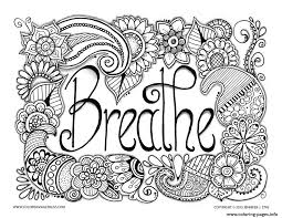 Breathe Adult Anti Stress Jennifer 3 Coloring Pages Print Download