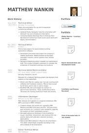 Technical Writer Resume Samples Visualcv Database Rh Com Sample For