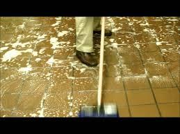floor cleaning for restaurants back of house using a foam gun