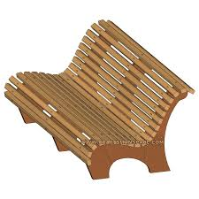 Plans To Build A Wooden Park Bench by Park Bench Plan