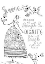 Coloring Page From Book For Mom Biblical Female Proverbs