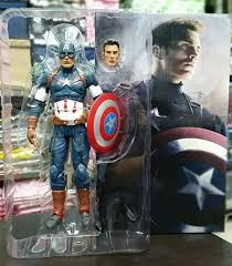 Aliexpress Buy Avengers Age Of Ultron Captain America PVC Action Figure Collectible Model Toy 9 23cm From Reliable Suppliers On