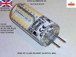 g4 48 led 2 pin capsule cold white replace halogen bulbs dc 12v