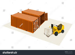 100 Powered Industrial Truck Forklift Fork Heavy Machine Stock Vector Royalty