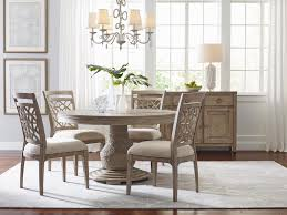 American Drew Vista 5pc Largo Round Dining Set In White Oak ... American Drew Queen Anne Ding Table W 12 Chairs Credenza Grantham Hall 7 Piece And Chair Set Ad Modern Synergy Cherry Grove Antique Oval Room Amazoncom Park Studio Weathered Taupe 2 9 Cozy Idea To Jessica Mcclintock Mcclintock Home Romance Rectangular Leg Tribecca 091761 Square Have To Have It Grand Isle 5 Pc Round Cherry Pieces Used 6 Leaf