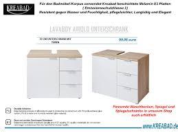lavaboy badmöbel unterschrank 64cm