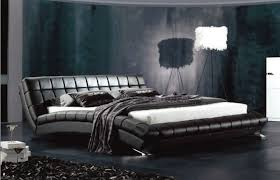 Black Leather Headboard Double by Designer Modern Genuine Real Leather Soft Bed Double Bed King