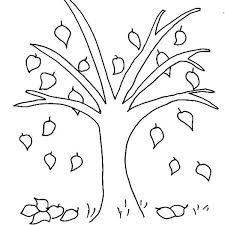Simple Fall Leaf Coloring Pages For Kids Adults In Tree Sheet