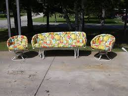 Homecrest Patio Furniture Dealers by Mid Century Vintage Homecrest Patio Lawn Furniture Chairs Glider