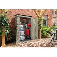 rubbermaid 1887157 outdoor large resin vertical storage shed 4 3