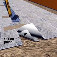 Cutting Vinyl Or Linoleum If Using Two Sheets