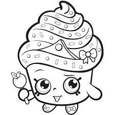 Cupcake Queen Exclusive Shopkins To Color