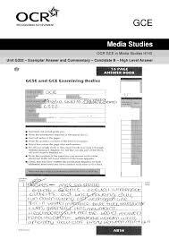 A B Grade Answers OCR Media