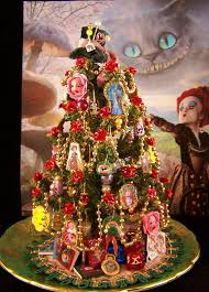 Miniature Alice In Wonderland Christmas Tree From The Johnny Depp Movie