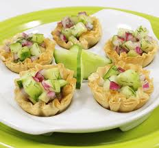 cucumber canapes healthy snacks balsamic cucumber mini shell canapes