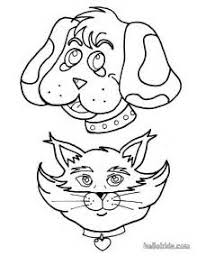 Dog And Cat Coloring Pages Hellokidscom