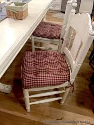 Checkers Red Tan Dining Chair Pads