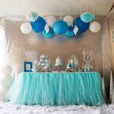 Cheap Wedding Decorations Online by Aqua Blue Tutu Table Skirt Custom Made Wedding Supplies Sashes