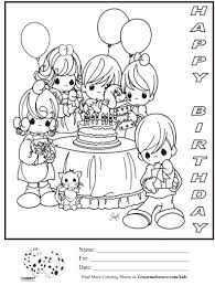 Kids Happy Birthday Card Coloring Pages