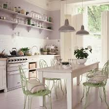 White Kitchen Shelves For Storage In Retro Style