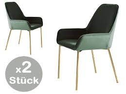 esszimmerstuhl 2er set grün samt grün günstig möbel küchen büromöbel kaufen froschkönig24