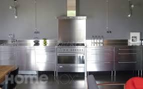 cuisine inox sur mesure credence inox sur mesure pas cher